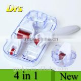 DRS 4 in 1 Derma Roller with 3 Separate New Roller Heads Microneedle Therapy System Skin Care Dermaroller 4 in 1