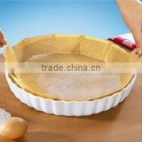Round paper baking liner 8 flower cut pot liner cake mould liner with handle