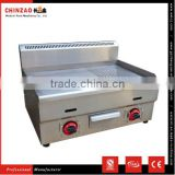 CHINZAO Product Resturant Kitchen Supplies Counter Top Stainless Steel Grill Door Design Gas Griddle for Hot Sell