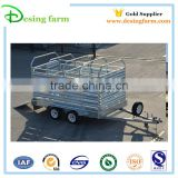 Hot dipped galvanized livestock trailer of side panel for sale