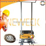 Neweek automatic lifting adjustable thickness white ash cement powder plastering machine for wall