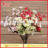 2017 trending prouct High Quality cherry blossom Flower Artificial silk Flowers cherry blossom