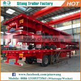 Hot-selling inexpensive 20ft 40ft container semi-trailer high quality tanzania used flatbed trailer for sale