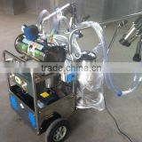 Cow Milk Sunction machine /vacuum pump two tanks milking machine with electric and gasoline engine