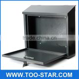 Stainless steel Lockable Mail Box Lockable Stainless Steel Wall Mount Mail Boxes with key Material