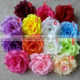 Wholesale Artificial flowers Silk Rose heads 10cm