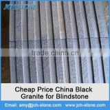 G654 dark grey granite China supply cheap black outdoor road granite for blind paving stone