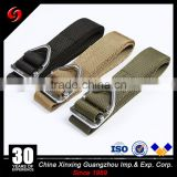 Zinc alloy buckle military pant's rescue mountaineering belt khaki army green black color belt