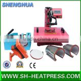 High quality best selling 8 in 1 5 in 1 combo heat press machine for tshirt mug cap plate