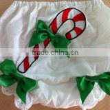 wholesale baby bloomer set white and green bloomers