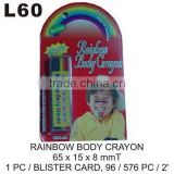 L60 RAINBOW BODY CRAYON