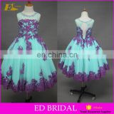 Custom Made Sleeveless Beaded Appliques 2 Year Old Girl Dress Evening Dress Prom Dress