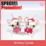 Mini animal doll shaped candle for birthday decoration