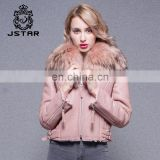 2017 Warm Winter Women's Double-faced Sheepskin Real Lamb Fur Jacket Style short Coat