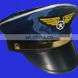 Fashion party navy police chief hats with badge