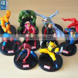 cartoon super hero mini pvc figures, mini hero plastic figure toy for collection, custom made plastic miniature figurine