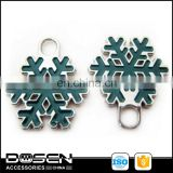 Christmas Decorative Newest Green Snowflakes Wholesale Private Zipper Puller Nickel Free Desinger Brand Zipper Slider Pendant