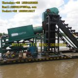 200m³/h , 300m³/h Simple Structure Bucket Chain Gold Dredger