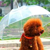 New Design Customized Size Transparent Pet Dog Umbrella with Link Chain