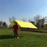 Camping Fly Tarp Yelllow Color 3X3M Silver Coated  Sun Shade Beach Shelter