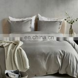 Super Soft Breathable Anti Wrinkle Brushed Microfiber Light Gray Bedding Collection Sets