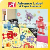 Robot home decor paper wall sticker