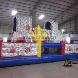Halloween Inflatable Bounce House Castle fun City Obstacle Course Commercial