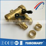 Free sample factory OEM Brazil style Aluminum Handle heating brass manifold with valve