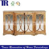 antique southern China style furniture sideboard,Recycle FIR Sideboard,wood glass sideboards