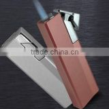 Green windproof METAL Lighter refillable metal jet flame lighter high quality cheap lighter metal lighter