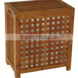 Bamboo Laundry Hamper with Canvas Bag