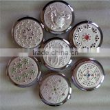plain factory custom wholesale price high quality decorative compact mirrors 1636