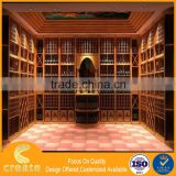 Customized wooden special house design for wine display stand cabinets & case from China factory