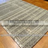 Nepal Hand Knotted Natural Cream Beige Wool Tibetan Area Rug Carpet