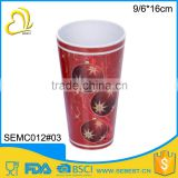 low price plastic no handle red cups