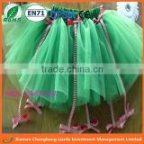 wholesale 2016 christmas girls basic tutus with bow,popular tulle tutus for kids,plain kelly green pettiskirts child