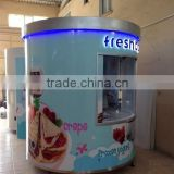 Free designed pizza kiosk design donut kiosk for sale crepe kiosk with long time use