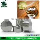 hot sale magic stainless steel metal whisky stone tubes for drinks
