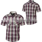 boy's short sleeve yarn dye checked shirt