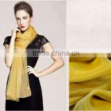 women plain style fashion colorful imitated silk scarf and shawl, polyester fabric silk feel scarves and shawls wholesale