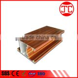 Manufacturing 6000 series wooden anodized aluminum profile for cabinet aluminum door window frame