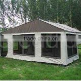 military green trailer tent folding bed camping family tent