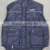 mens 100% Nylon and polyester padding winter vest & waistcoat with pocket