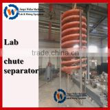 spiral chute separator for iron ore concentrate in laboratory, lab spiral chute test equipment