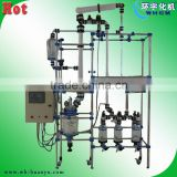 jacketed glass reactor multi-function with distillation and rectification system,sampling on site,customized