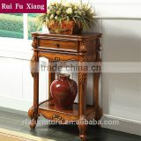 American antique style handmade wood commodity shelf rack S-209