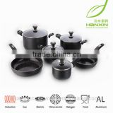 10pcs cookware set/ceramic coating dinner sets/10pcs aluminum cookware sets/fry pan/sauce pan/casserole