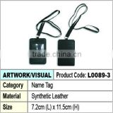 Synthetic Leather Name Tag / ID card holder