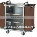 Hotel Trolley Housekeeping Carts stainless steel hotel housekeeping maid carts equipment