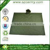 Army Use OD Green 210T Polyester Rip Stop Multi-Function Poncho